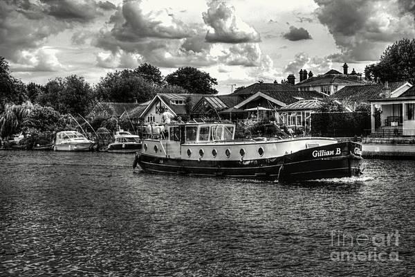Photograph - Tug On The River Thames by Lance Sheridan-Peel
