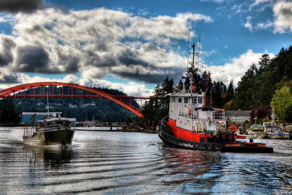Photograph - Tugboat At The Rainbow Bridge by David Patterson
