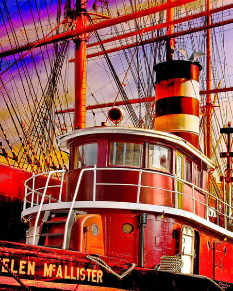 Tall Photograph - Tugboat Helen Mcallister by Chris Lord