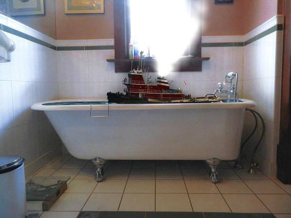 Elliott Digital Art - Tugboat In A Bathtub by Skipper Elliott Memmott