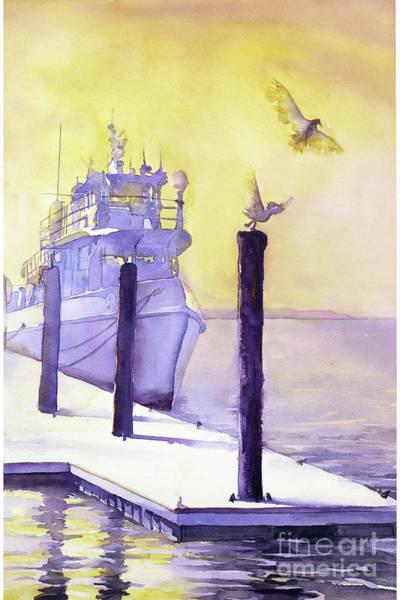 Wall Art - Painting - Tugboat On Coast by Ryan Fox