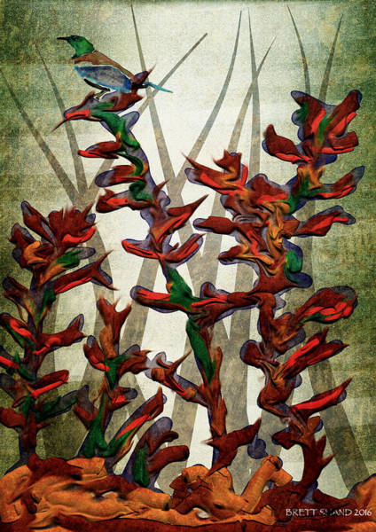 Tui In Flax Art Print