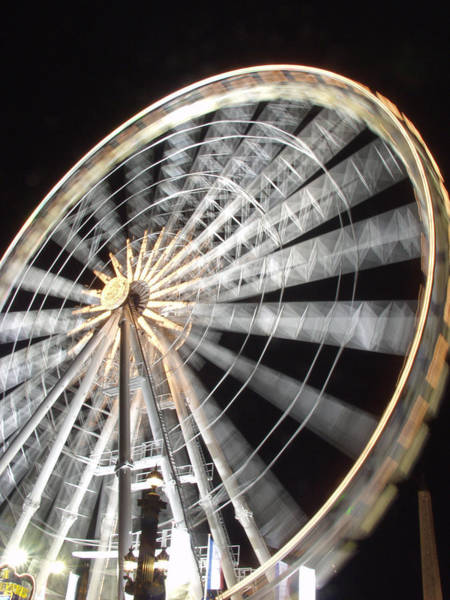 Photograph - Tuileries Paris Wheel by Mark Currier