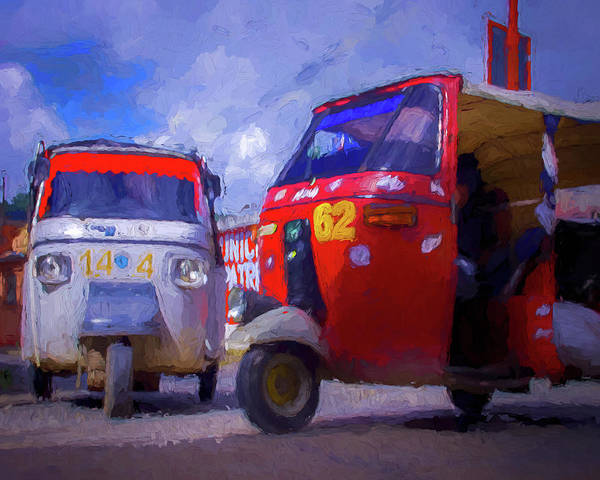 Digital Art - Tuk Tuks  by Adam Reinhart