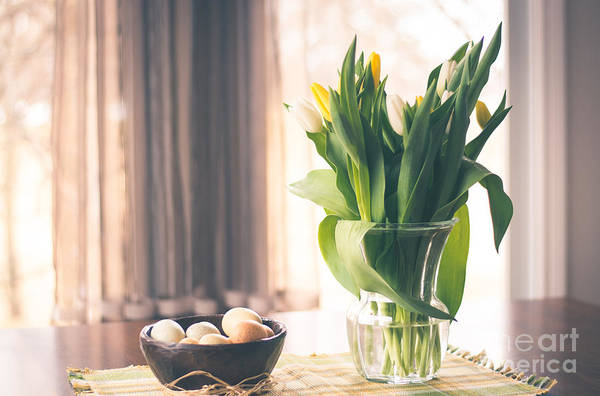 Treen Photograph - Tulip And Eggs by Cheryl Baxter