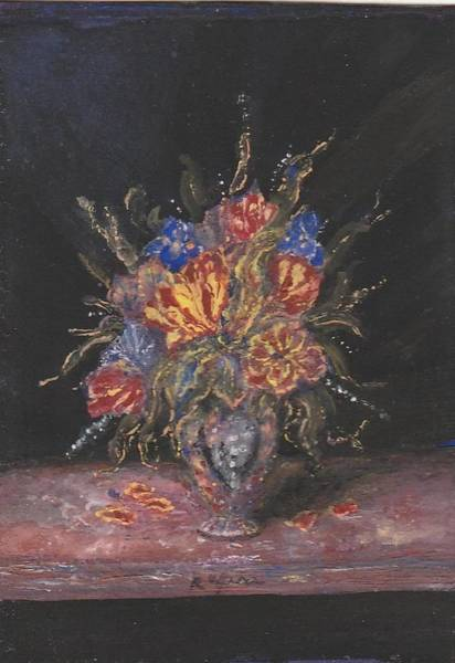 Painting - Tulip And Iris Medley by Regina Taormino