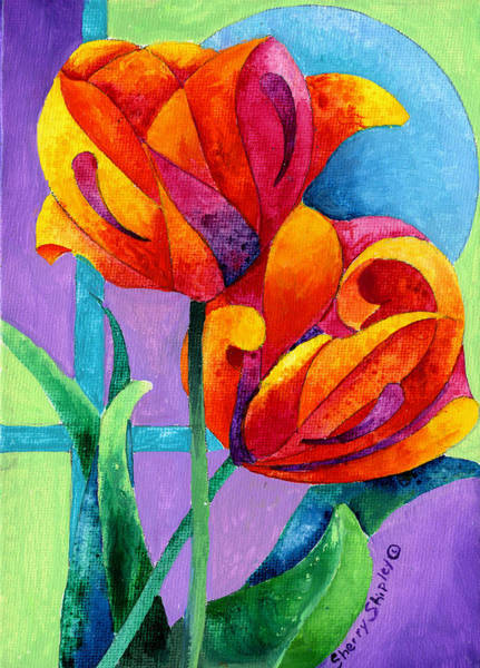 Painting - Tulip Eclispe by Sherry Shipley