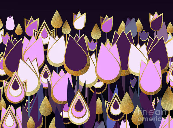 New Trend Digital Art - Tulip Fantasy by Zaira Dzhaubaeva