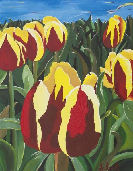 Skagit Valley Painting - Tulip Valley by Sarah  Jewett