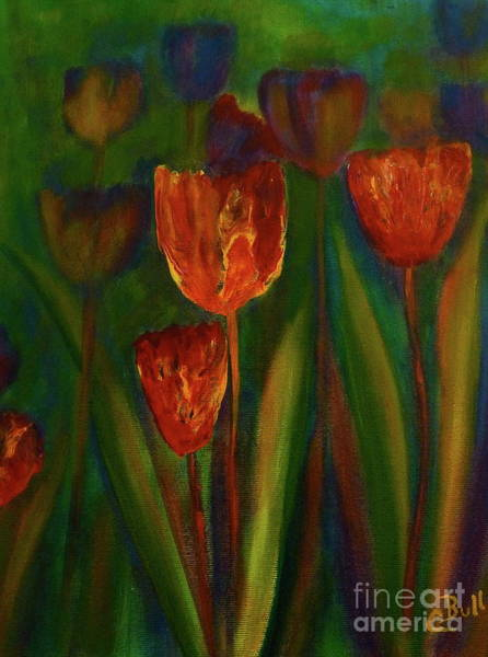 Painting - Tulip Garden by Claire Bull