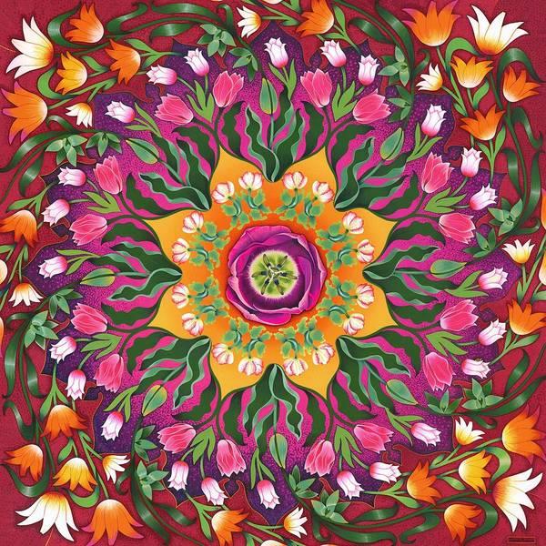 Twirl Painting - Tulip Mania 2 by Isobel Haslam