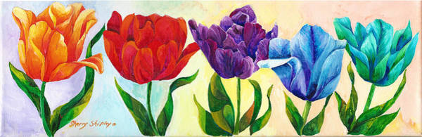 Painting - Tulip Rainbow by Sherry Shipley