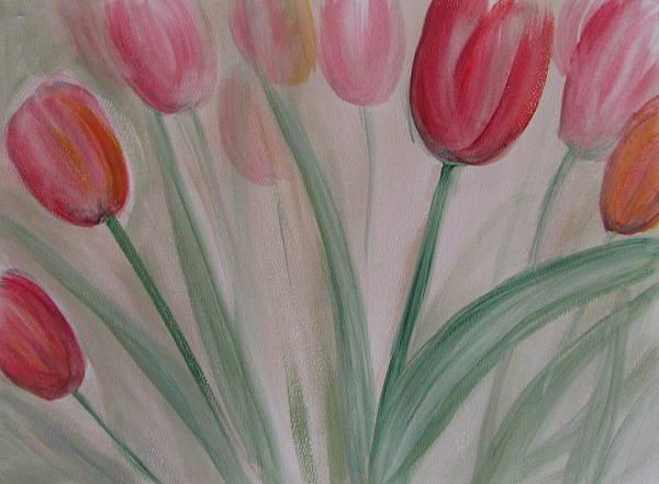 Painting - Tulip Series 5 by Anita Burgermeister