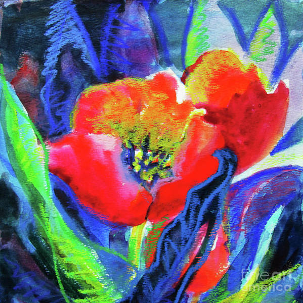 Wall Art - Painting - Tulip Square by Kathy Braud