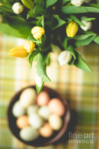 Treen Photograph - Tulip Table Setting by Cheryl Baxter