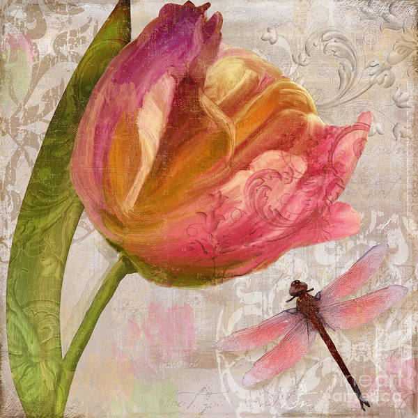 Wall Art - Painting - Tulip Tempest I by Mindy Sommers