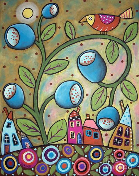 Tulip Painting - Tulip Town by Karla Gerard