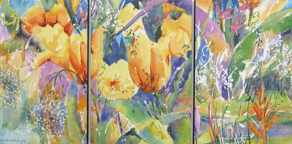 Painting - Tulip Triptych by John Nussbaum