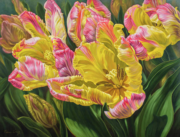 Tulip Bloom Painting - Tulipomania 9 Reaching For The Sun by Fiona Craig