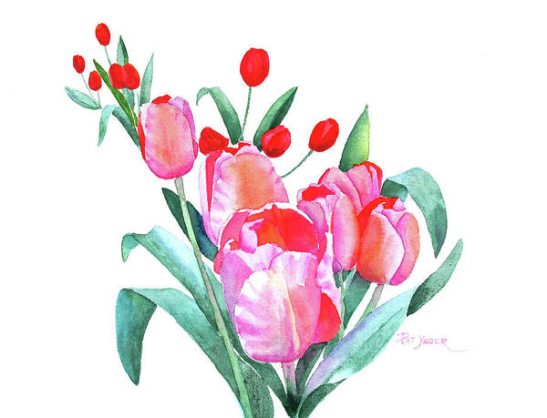Wall Art - Painting - Tulips For Mikaela by Pat Yager
