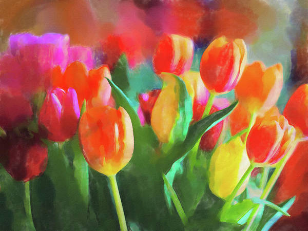 Painting - Tulips Joy by Lutz Baar