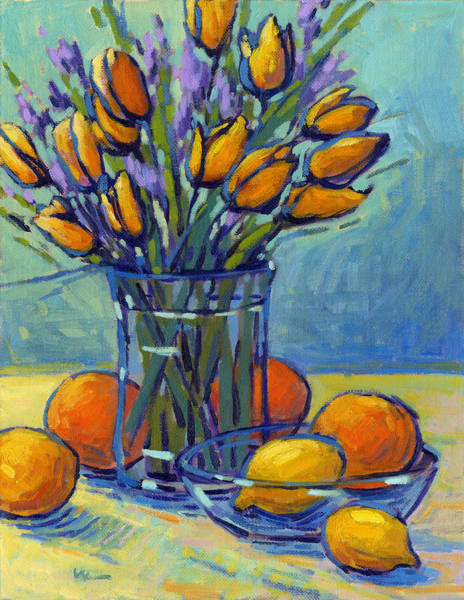 Painting - Tulips, Lemons, Oh My by Konnie Kim