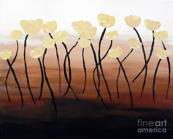 Painting - Tulips Of Gold by Jilian Cramb - AMothersFineArt