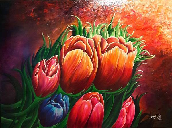Painting - Tulips by Owen Lafon