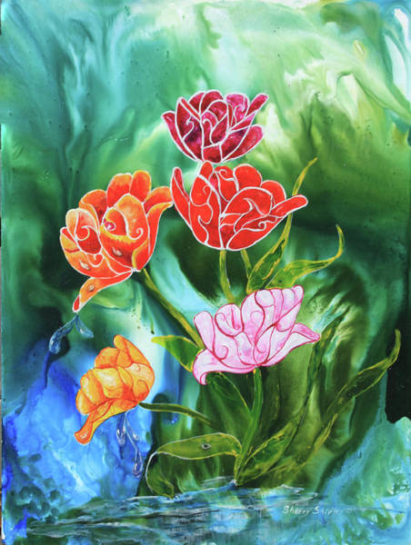 Painting - Tulips by Sherry Shipley