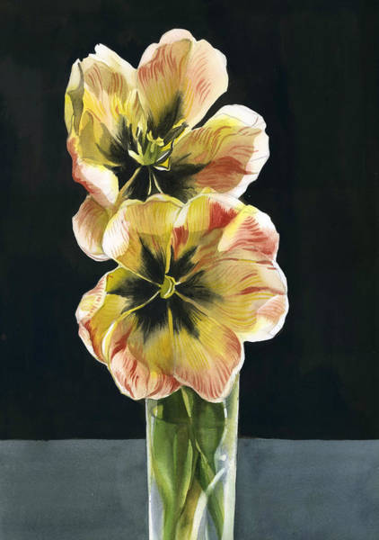 Painting - Tulips Still Life by Alfred Ng