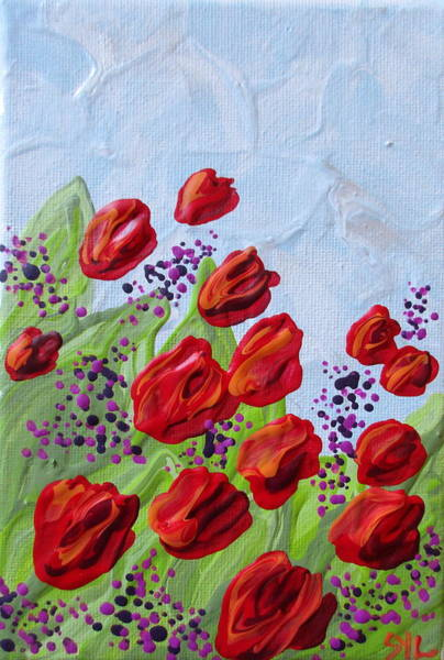 Wall Art - Painting - Tulips by Sylvia Grantins
