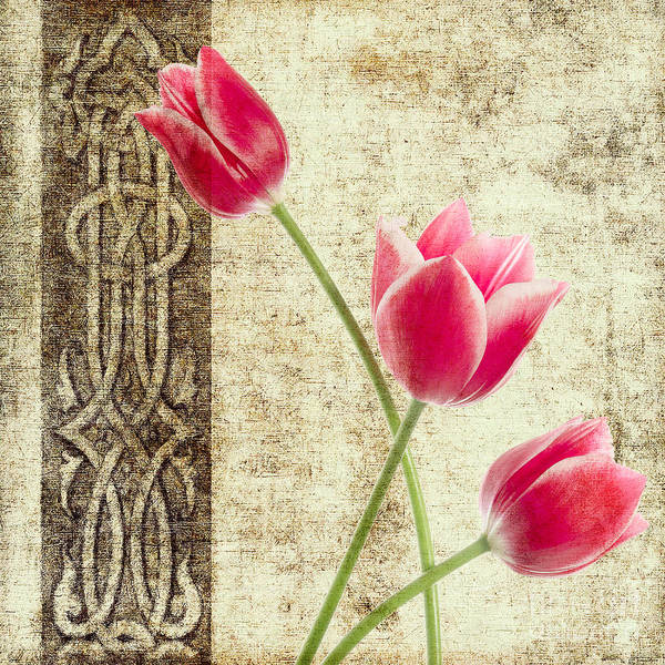 Flamingo Flower Wall Art - Painting - Tulips Vintage  by Mark Ashkenazi