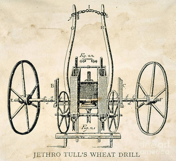 Photograph - Tull: Seed Drill, 1701 by Granger