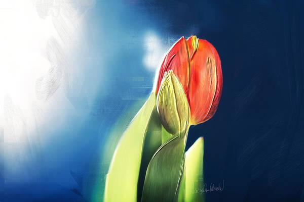 Flower Painting - Tulpe-einzeln.. by Jacqueline Schreiber
