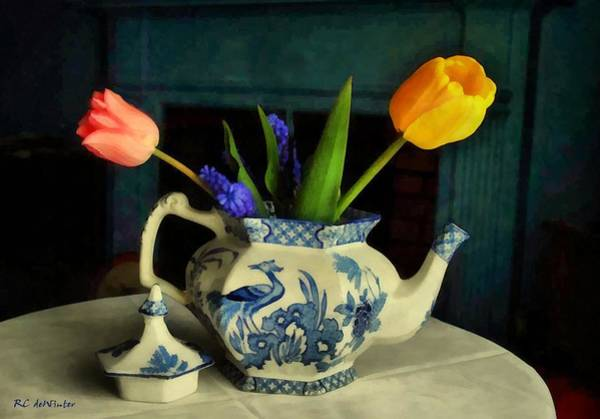 Painting - Tulip Teapot by RC DeWinter