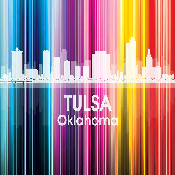 Digital Art - Tulsa Ok 2 Squared by Angelina Tamez