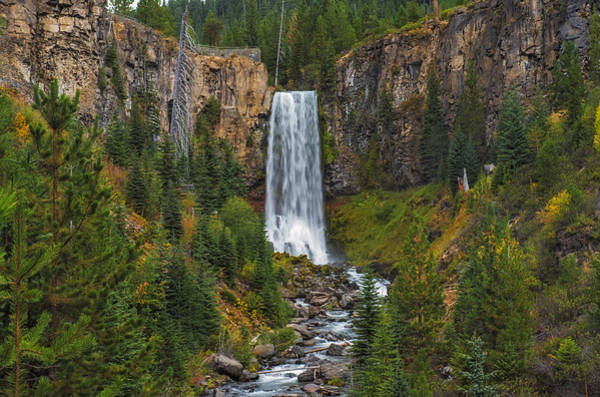 Photograph - Tumalo Falls Autumn by Loree Johnson