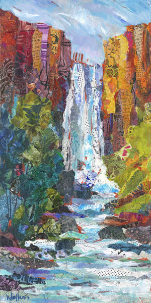 Painting - Tumalo Falls Out And Back by Shelli Walters