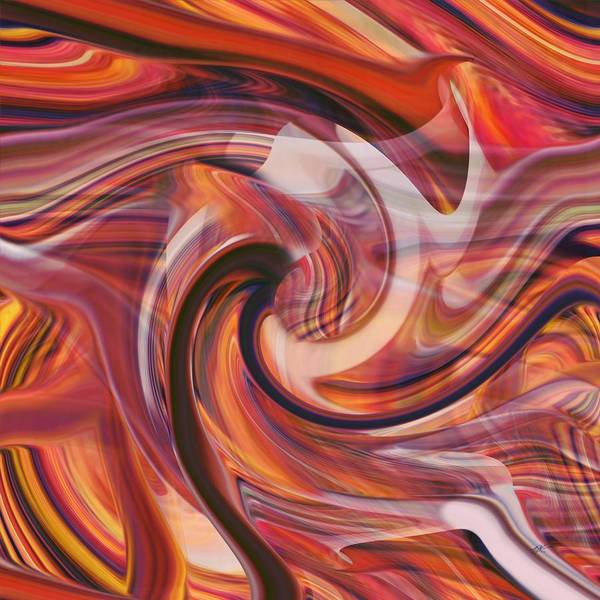 Digital Art - Tumble Of Color by rd Erickson