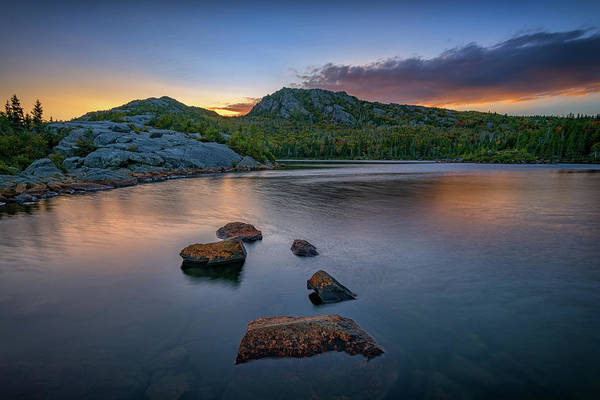 Wall Art - Photograph - Tumbledown Mountain At Sunset by Rick Berk