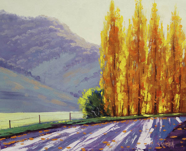 Shadow And Light Painting - Tumut Autumn Poplars by Graham Gercken