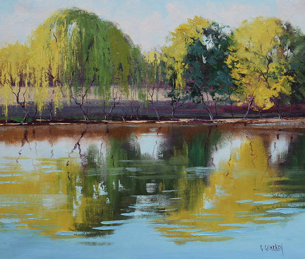 Wall Art - Painting - Tumut Reflections by Graham Gercken