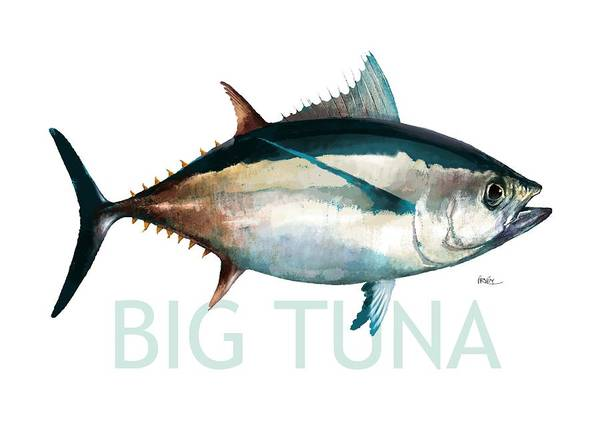 Sea Life Digital Art - Tuna 001 by Trevor Irvin