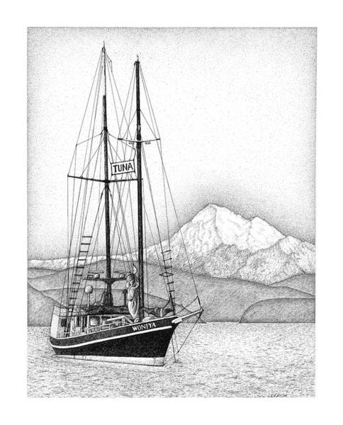 Drawing - Tuna For Sale by Lorrisa Dussault