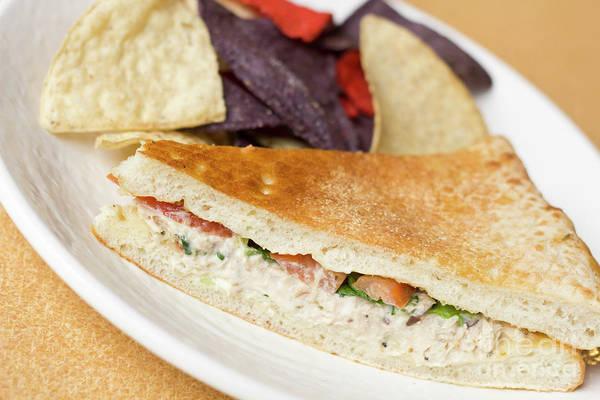 Salad Dressing Photograph - Tuna Panini Tortilla Chips by Ezume Images