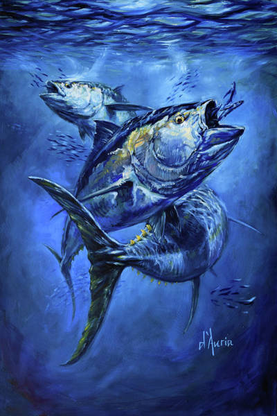 South Atlantic Wall Art - Painting - Tuna  by Tom Dauria