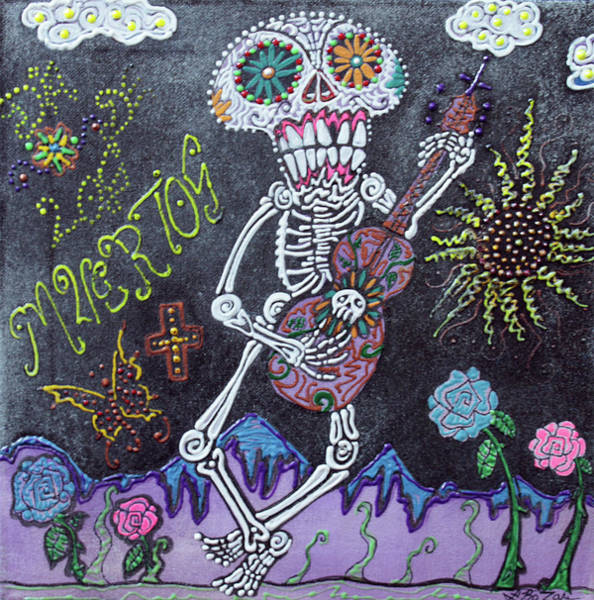 Wall Art - Painting - Tune Of Los Muertos by Laura Barbosa