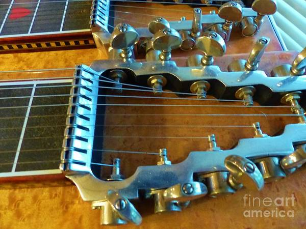 Photograph - Tuning Pegs On Sho-bud Pedal Steel Guitar by Rosanne Licciardi