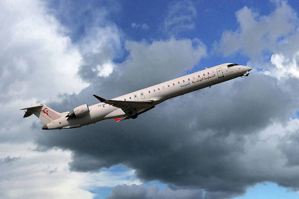 Er Photograph - Tunisair Express Bombardier Crj-900er by Smart Aviation