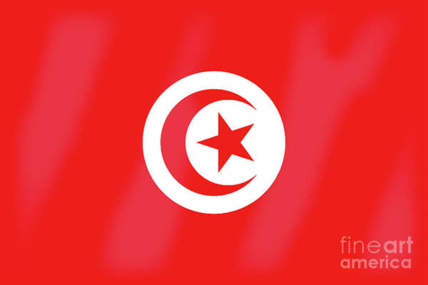 Tunisia Digital Art - Tunisia Flag by Bigalbaloo Stock